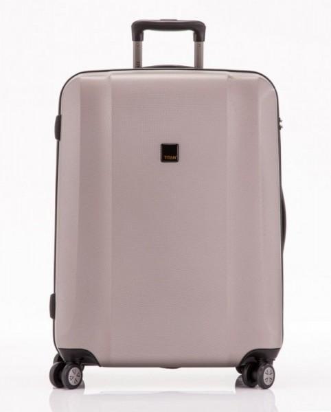 Titan Xenon 4w L Champagne polykarbonátový cestovní kufr na 4 kolečkách TSA 74 cm