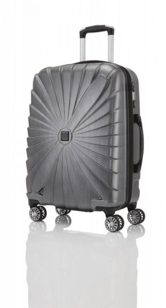 Titan Triport 4w M Anthracite polykarbonátový cestovní kufr na 4 kolečkách TSA 65 cm