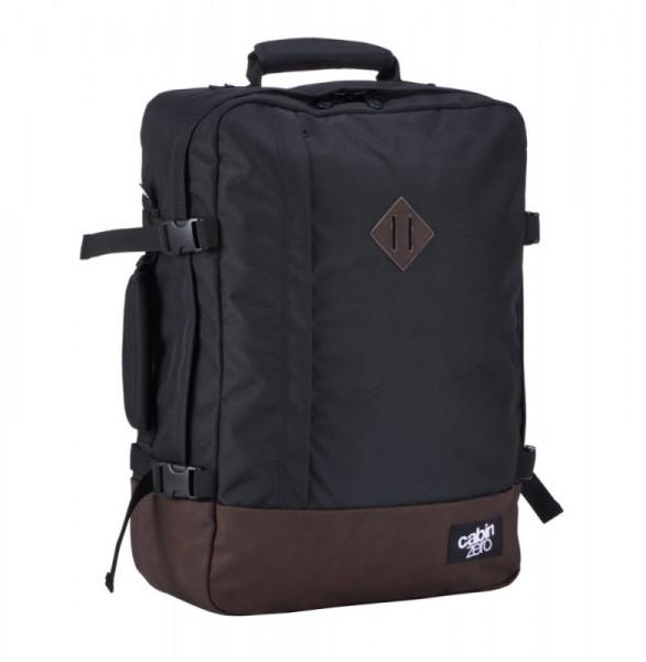 CabinZero Vintage 44L Absolute Black ultra-light palubní batoh-taška 51x36x19 cm