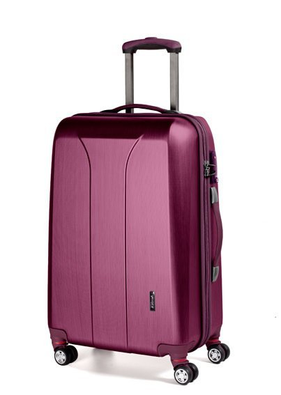 March New Carat L Burgundy Brushed cestovní kufr na 4 kolečkách TSA 74 cm