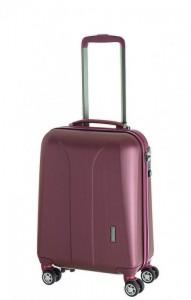 March New Carat S Burgundy Brushed palubní kufr na 4 kolečkách TSA 55x35x20 cm 2,2 kg