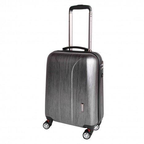 March New Carat S Black Brushed palubní kufr na 4 kolečkách TSA 55x35x20 cm 2,2 kg