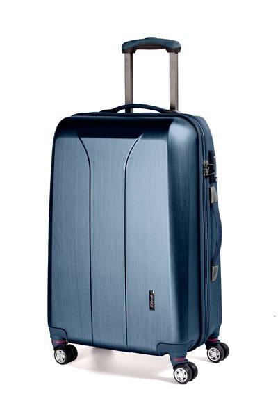 March New Carat L Navy Brushed cestovní kufr na 4 kolečkách TSA 74 cm
