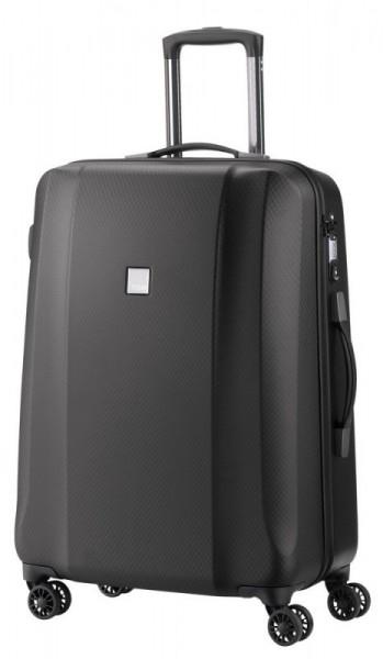 Titan Xenon Deluxe M Graphite polykarbonátový cestovní kufr na 4 kolečkách TSA 67 cm