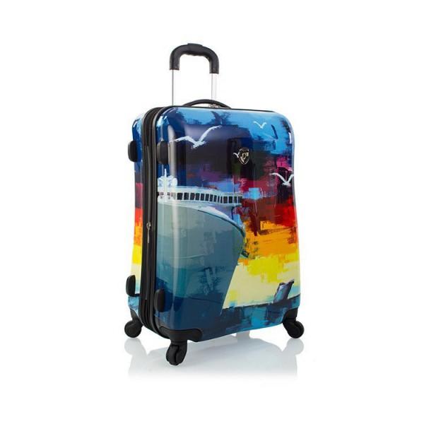 Heys Cruise M odolný skořepinový cestovní kufr na 4 kolečkách TSA 66 cm