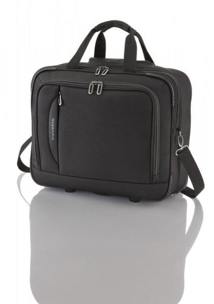 Travelite CrossLITE Business Wheeler Black špičkový palubní kufr na 2 kolečkách 41 cm