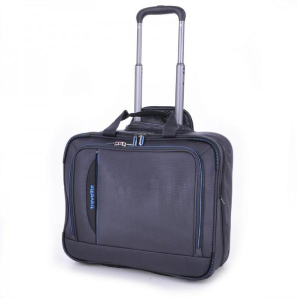 Travelite CrossLITE Business Wheeler Anthracite špičkový palubní kufr na 2 kolečkách 41 cm