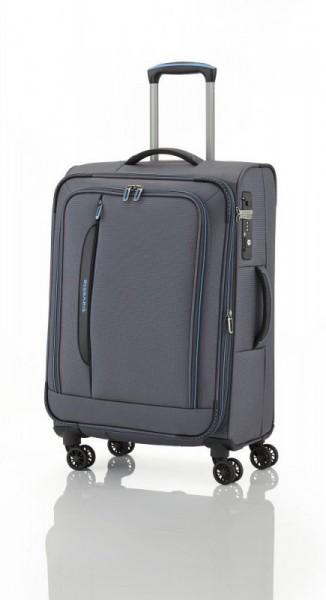 Travelite CrossLITE 4w M Anthracite špičkový cestovní kufr na 4 kolečkách TSA 67 cm 69-80 l