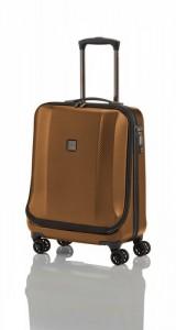 Titan Xenon Deluxe Business Wheeler Brown palubní kufr na 4 kolečkách TSA 55x40x22 cm