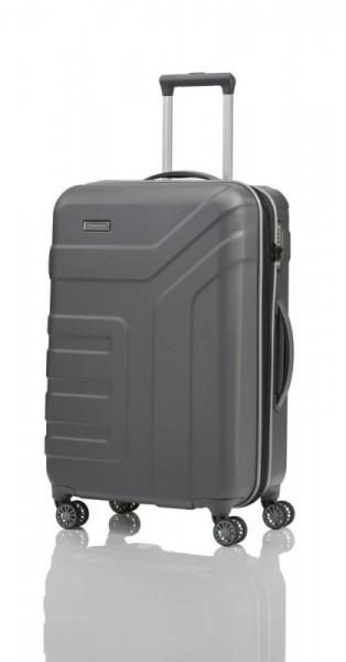 Travelite Vector 4w M Anthracite cestovní kufr na 4 kolečkách TSA 70 cm 79-91 l