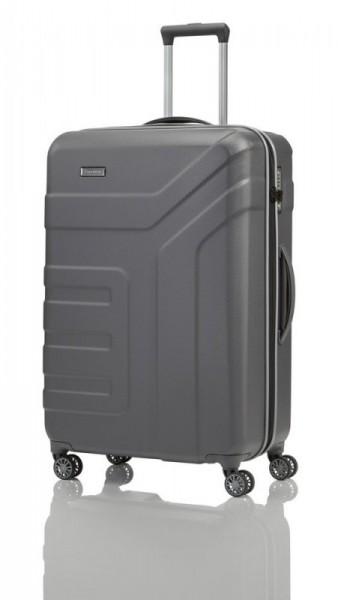 Travelite Vector 4w L Anthracite cestovní kufr na 4 kolečkách TSA 77 cm 103 l