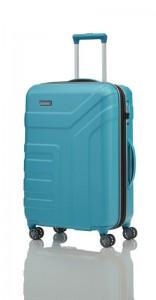 Travelite Vector 4w M Turquoise cestovní kufr na 4 kolečkách TSA 70 cm 79-91 l