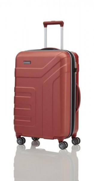 Travelite Vector 4w M Coral cestovní kufr na 4 kolečkách TSA 70 cm 79-91 l