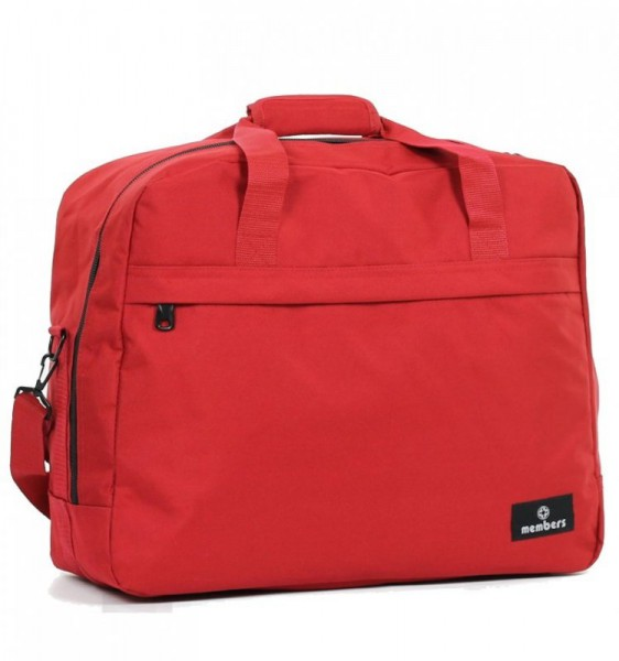 Member's SB-0036 palubní cestovní taška červená 55x40x20 cm 40 l