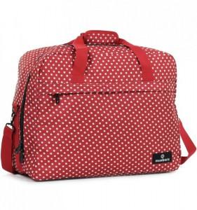 Member's SB-0036 palubní cestovní taška červená/bílá 55x40x20 cm 40 l
