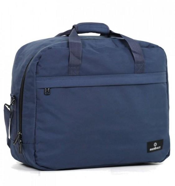 Member's SB-0036 palubní cestovní taška modrá 55x40x20 cm 40 l