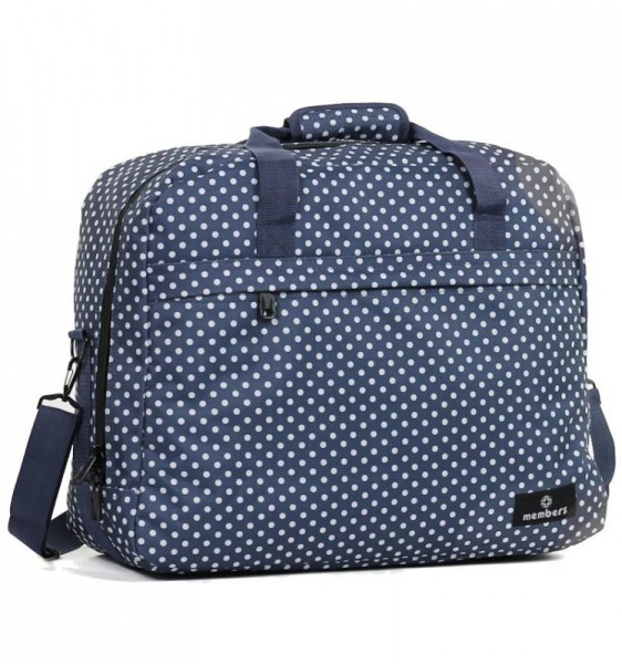 Member's SB-0036 palubní cestovní taška modrá/bílá 55x40x20 cm 40 l