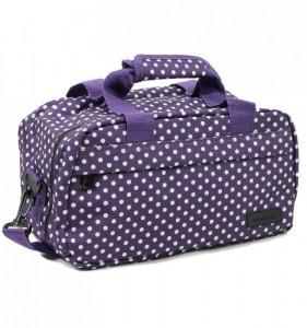 Member's SB-0043 palubní cestovní taška fialová/bílá 35x20x20 cm Ryanair