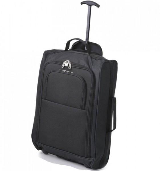 5 Cities T-830 2w S Black palubní kufr na 2 kolečkách 55x35x19 cm 1,65 kg