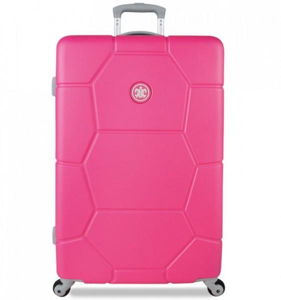SUITSUIT Caretta L Shocking Pink cestovní kufr na 4 kolečkách 75 cm