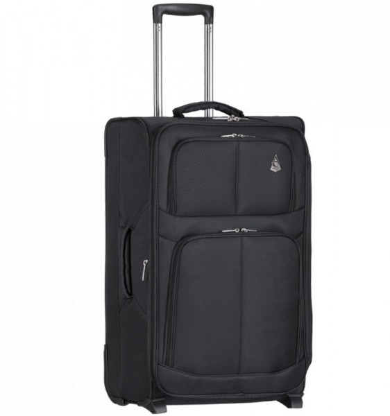 Aerolite T-9613 SBlack ultralehký palubní kufr na 2 kolečkách 55×35,5×20 cm černý