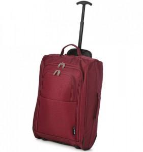 5 Cities T-830 2w S Wine palubní kufr na 2 kolečkách 55x35x19 cm 1,65 kg