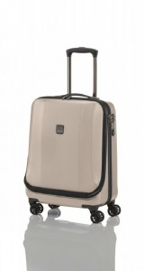 Titan Xenon Deluxe Business Wheeler Champagne palubní kufr na 4 kolečkách TSA 55x40x22 cm