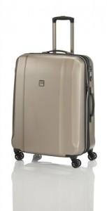 Titan Xenon Deluxe M+ Champagne cestovní kufr na 4 kolečkách TSA 71 cm 103-117 l