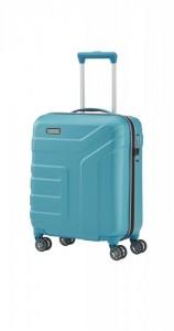 Travelite Vector 4w S Turquoise palubní cestovní kufr na 4 kolečkách TSA 55 cm
