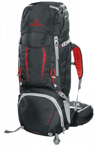 Ferrino Overland 50+10 trekový dvoukomorový batoh černo-červený