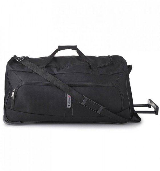 5 Cities T-602/27″ M Black středně velká cestovní taška na 2 kolečkách 35x73x30 cm 73 l černá