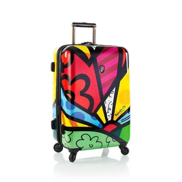 Heys Britto A New Day M designový cestovní kufr na 4 kolečkách TSA 66 cm