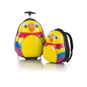 Heys Travel Tots Parrot / Papoušek dětská sada cestovního kufru 46 cm a batohu