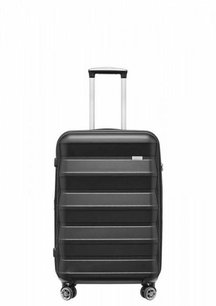 Stratic Pile 2 S Black skořepinový palubní kufr na 4 kolečkách TSA 55x38x22 cm