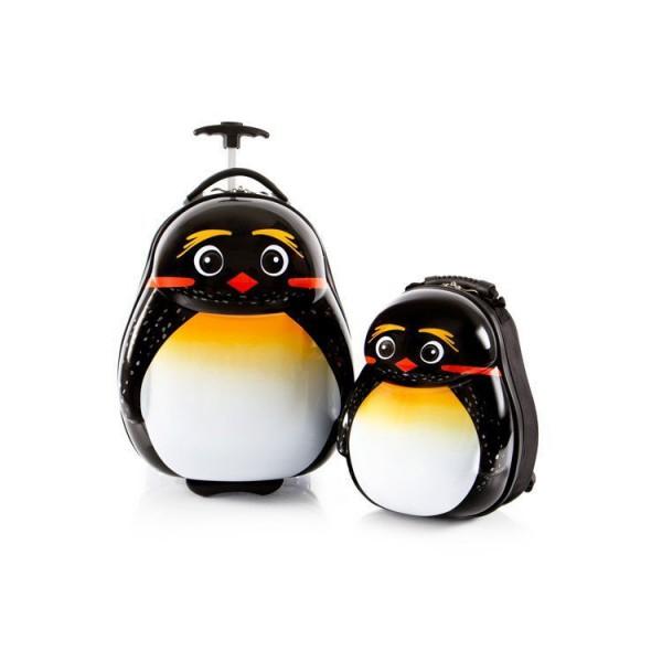 Heys Travel Tots Emperor Penguin / Tučnák císařský dětská sada kufru 46 cm a batohu