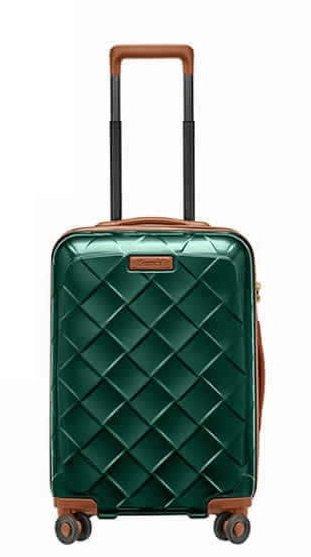 Stratic Leather & More S Smaragd luxusní palubní kufr na 4 kolečkách TSA 55x38x22 cm