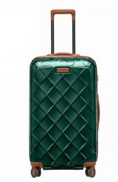 Stratic Leather & More M Smaragd luxusní cestovní kufr na 4 kolečkách TSA 66 cm