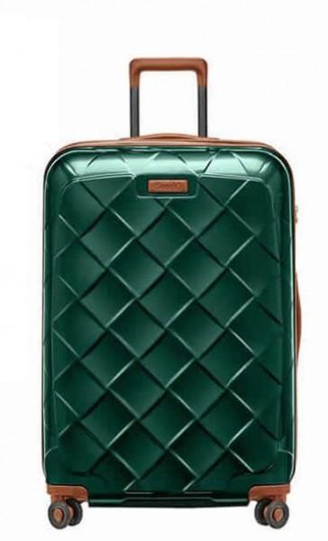 Stratic Leather & More L Smaragd luxusní cestovní kufr na 4 kolečkách TSA 76 cm