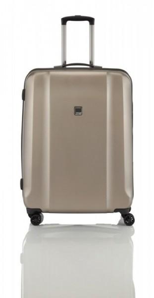Titan Xenon Deluxe S Champagne palubní cestovní kufr na 4 kolečkách TSA 55x38x20 cm