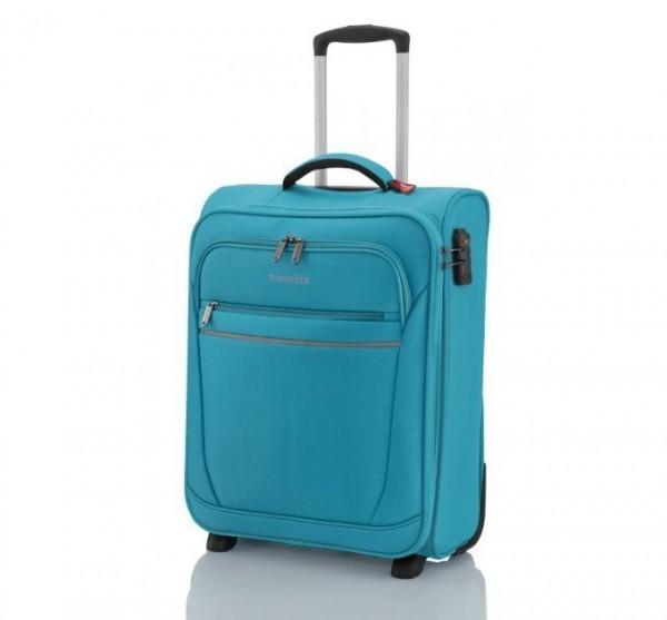 Travelite Cabin 2w Turquoise ultralehký palubní kufr na 2 kolečkách 55 cm 1,9 kg