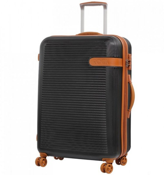 ROCK TR-0159 Valiant L Black cestovní kufr na 4 kolečkách TSA 71 cm 85-107 l