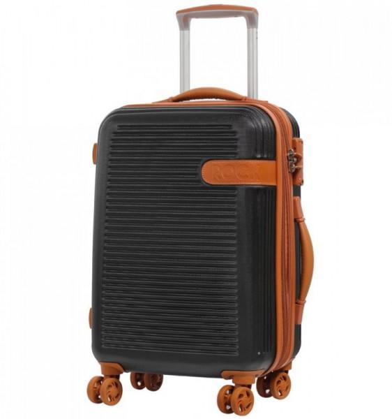 ROCK TR-0159 Valiant S Black palubní kufr na 4 kolečkách TSA 55x38x24 cm 37-47 l