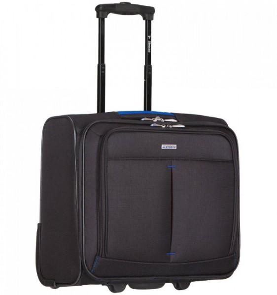 Azure Sirocco Business T-1103 příruční kufr na notebook na 2 kolečkách 40x41x21 cm černá/modrá