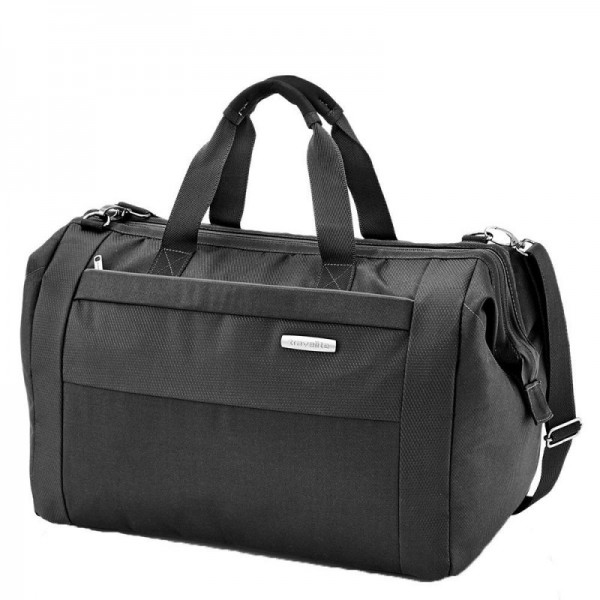 Travelite Capri Duffle Black elegantní cestovní taška 45x32x27 cm 39 l