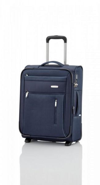 Travelite Capri 2w S Navy palubní cestovní kufr na 2 kolečkách TSA 53 cm 41-50 l