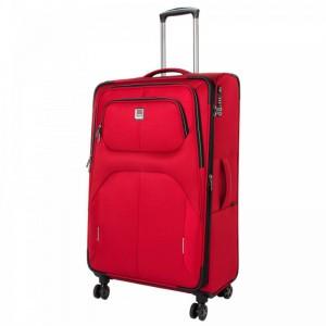 Titan Nonstop 4w L Red textilní cestovní kufr na 4 kolečkách TSA 79 cm 108-122 l