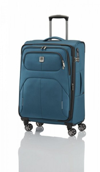 Titan Nonstop 4w M Petrol textilní cestovní kufr na 4 kolečkách TSA 68 cm 74-85 l