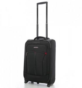 Aerolite Mobile Office T-202 Black S textilní palubní kufr 55x36x20 cm černý