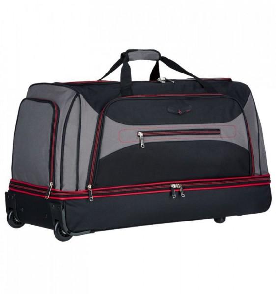 Azure Sirocco T-7554/30″ L velká cestovní taška na kolečkách 101 l černá/šedá/červená