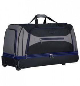 Azure Sirocco T-7554/30″ L velká cestovní taška na kolečkách 101 l černá/šedá/modrá
